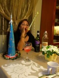 My mom playing the torotot
